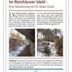 Flyer zur Wanderung mit Klaus Grote